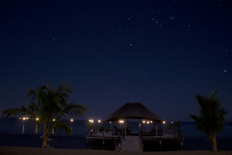 Lake Tanganyika at night